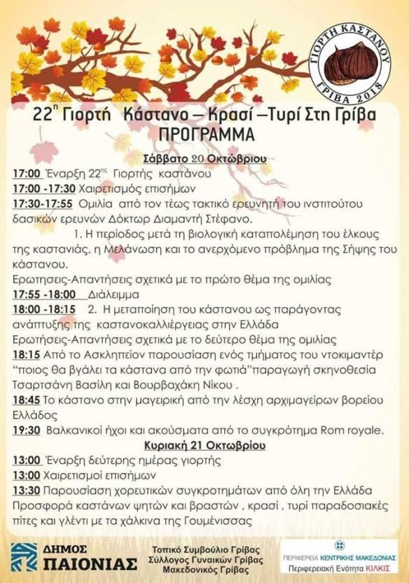 22η Γιορτή Πρόγραμμα